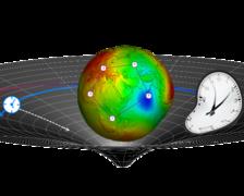 Visualisierung der relativistischen Effekte auf Uhren und deren Vergleich in der Raumzeit der Erde.