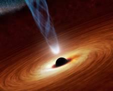 Künstlerische Darstellung eines supermassiven Schwarzen Lochs. Quelle: NASA/JPL-Caltech