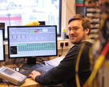 Hauke Müntinga in seinem QUANTUS-Labor Quelle: ZARM, UNiversität Bremen