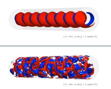 Visualisierung der numerischen Simulation eines turbulenten Blutstroms. Quelle: ZARM
