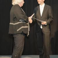47 - 2  Preistraeger Max Zahn mit Frau Fuchs